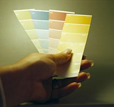 Při výběru Vašich odstínů nezapomeňte jaké osvětlení používáte